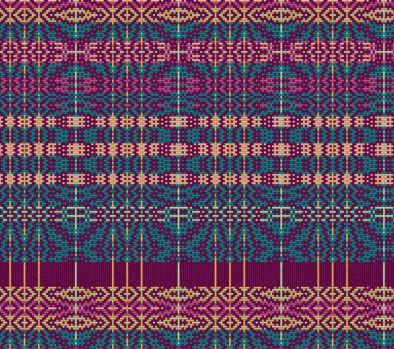 Software rendering of the fabric according to pattern - Apparence du tissu selon le patron élaboré avec le logiciel